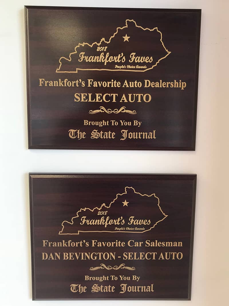 2018 Awards from Frankfort's Favorite in Kentucky (KY)